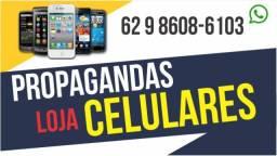 Propagandas para Lojas de Celulares, Vinhetas Lojas de Celulares, Gravação Loja de Celular