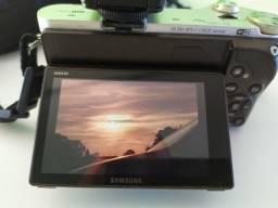 Samsung Nx300 wifi + 8 gb sd + lentes do kit 18-55 + adaptador para lentes Nikon