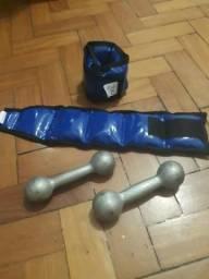 Kit Musculação Fitness Halter e Caneleira