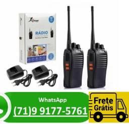 Kit 2 Rádios Comunicadores Walk Talk Profissional Uhf 16 Canais (NOVO)