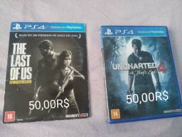 Jogos PS4 uncharted e the last of us