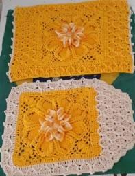 Conjunto de banheiro em crochê