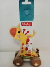 Girafinha de madeira Fisher Price