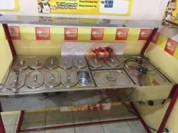 Mesa de Aquecimento (estufa) Buffet de Cachorro Quente