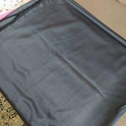Tecido peach veludo suave suede preto para costura