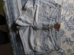 Short lavagem clara Tam 42