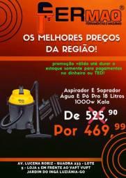 Aspirador De PO/ AGUA 18L 1000W Kala