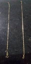 Ouro pulseira cada unidade 200.7 gramas 20 cm 200 reais cartão ou avista
