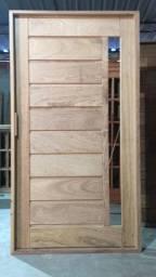 Porta pivotante 216x126 - madeira angelim pedra - pronta entrega- parcelamos