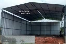 Galpão 240 m2. e 360 me Kit pronto Completo tesouras terças colunas telhas novas galvalume