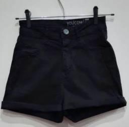 Short jeans preto novo youcom