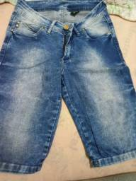 Bermuda jeans tamanho 38