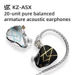Fone Kz Asx + Case Luxo