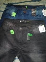 Calça jeans masculina nova estilo moderno 70 as duas