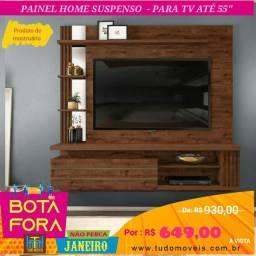 """BOTA FORA JANEIRO - PAINEL HOME SUSPENSO P/ TV ATÉ 55"""""""