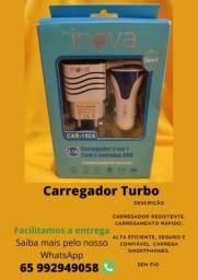 Carregador de celular 3em1 turbo