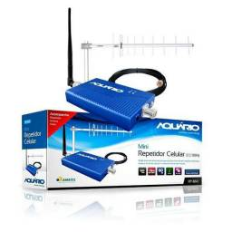 Mini Repetidor de sinal de Celular AQUARIO 800mhz 60db Rp860<br><br>