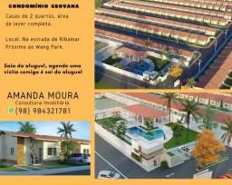 Título do anúncio: A= Casas na Estrada de Ribamar, 2 qrts, 51m², entrada aparte de 500 reais.