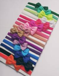 15 faixas de cabelo para bebes, laço 6 cm, escolha as cores.