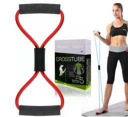 Elástico de tensão para exercícios ombro, bíceps, tríceps e glúteos crosstube