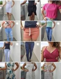 lote c/42 peças de roupas variadas fem/mas (novas)