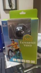 Filmadora Camera 360º Graus 3d Vr Fullhd Panorâmica Wifi