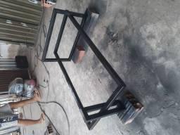 Mesa de centro de Metalon galvanizado mesa rústica...