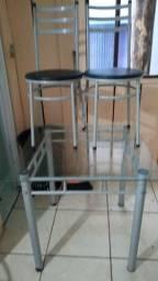 Mesa de Vidro 4 cadeiras