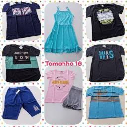 Lote roupas Juvenil Tamanho 16