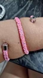 Bracelete pulseira biju foleado