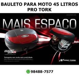 Título do anúncio: Maleiro Bauleto Baú Para Moto 45 Litros Pro Tork - Vermelho