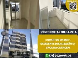 Residencial do Garcia, 2 quartos em 55m² e 1 vaga na garagem