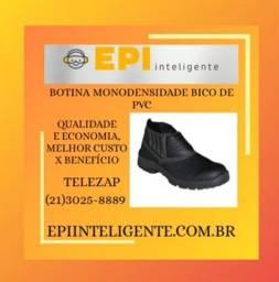 Botina De Elástico Dorso E Cano Sintético Solado Monodensidade F-1 Bico Pvc Preta R$ 40,00