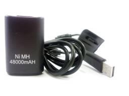 Bateria 5800 mah para Controle Xbox 360 com Cabo e Carregador