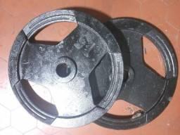 Título do anúncio: Anilha olímpica de ferro de 15kgs - Parcelo!