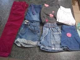 Lote Calça e shorts, bermudas, saia