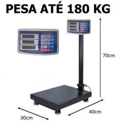 Balança digital até 180 kg plataforma com bateria recarregável nova na cx entrego