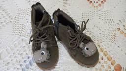 Sapato Tênis Cotuno Dinossauro Infantil Verde Novo Tam 23