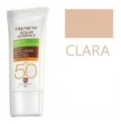 Avon Renew Solar Advance Protetor Facial Matte Cor Clara 50g
