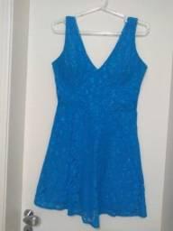 Vestido festa azul curto