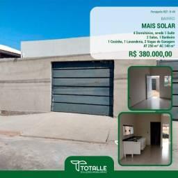Título do anúncio: Casa para Venda Penápolis / SP Residencial Mais Solar Penápolis II (250 M²)