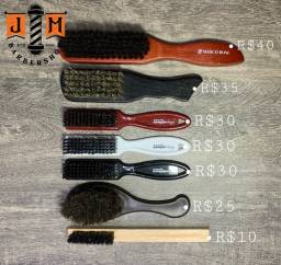 Escova Profissional barba e degrade Dompel cerdas Mistas - somos loja física