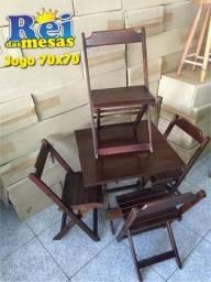 Mesas cadeiras dobraveis de Madeira (Madeira de lei )