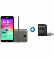 Smartphone LG K10 Novo 32GB Titanio Dual chip 4G-CÂM. 13MP+ CARTÂO De Memoria 64GB SanDisk