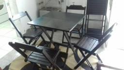 Jogo de mesa bistrô e quadrada