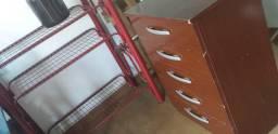 Comoda de mdf e armário 4 itens