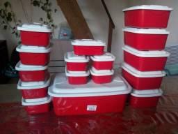Kit com 16 vasilhas plásticas