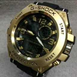 e176b7394f4 Relógio masculino g shock cabeça de aço