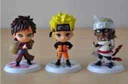 Kit 6 Figure Action Bonecos Naruto Gaara Madara Itachi - Novo
