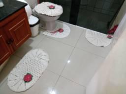 Encomendas de kit tapete de crochê para banheiro
